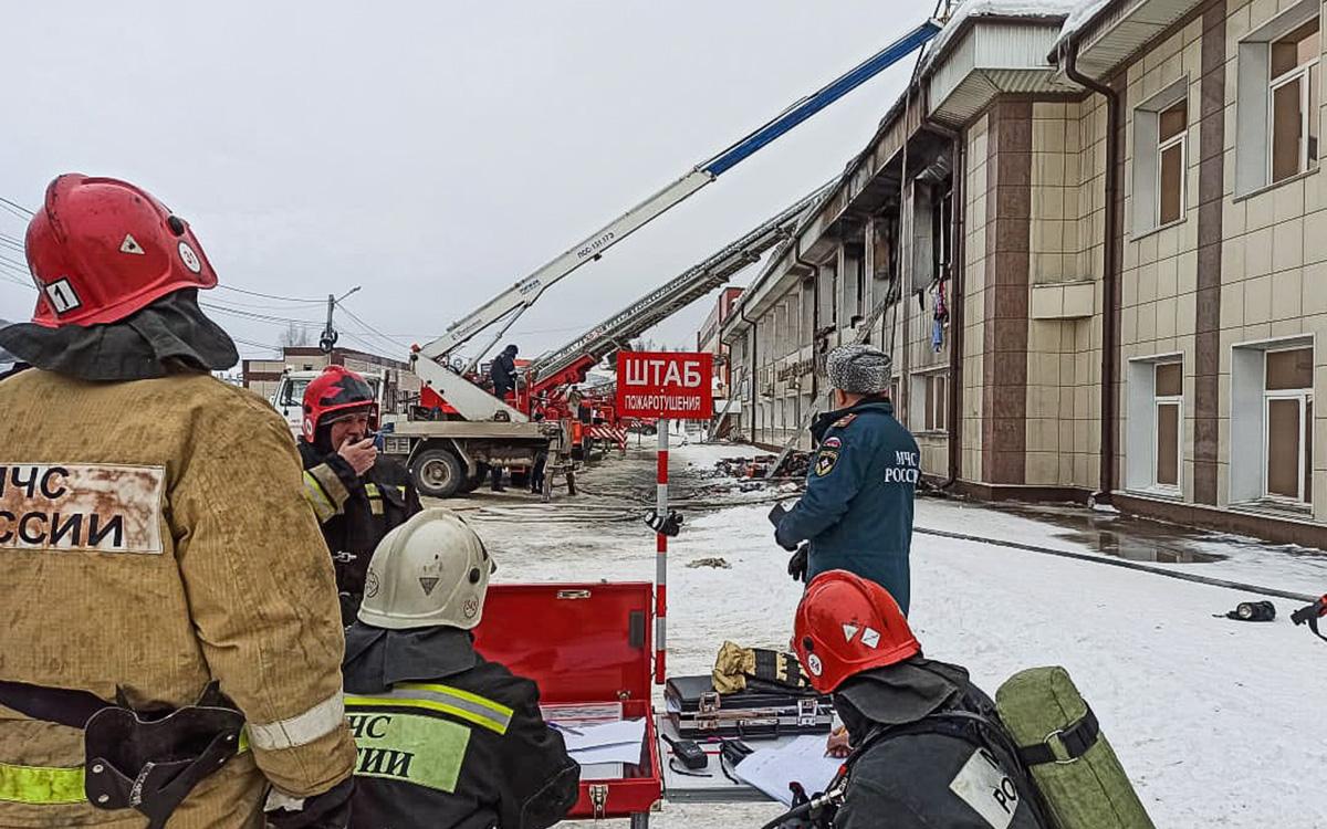 Прокуратура организовала проверку из-за пожара в ТЦ в Горно-Алтайске