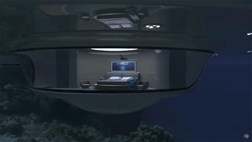 В подводной части «НЛО2.0» предполагается разместить жилые искладские помещения