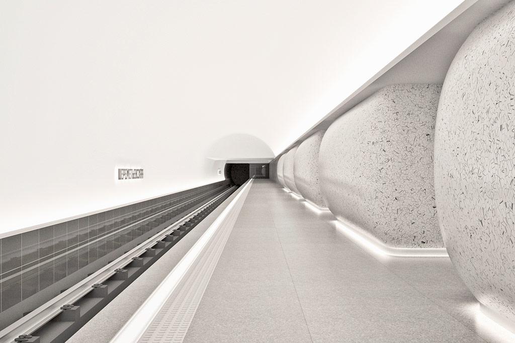 Конкурсный проект дизайна станции «Шереметьевская»