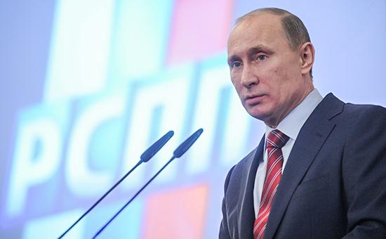 Президент России Владимир Путин насъезде Российского союза промышленников ипредпринимателей (РСПП), 2012 год