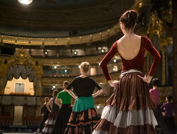 Репетиция балета «Пахита»