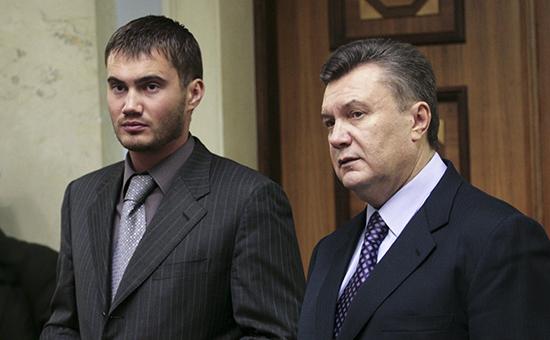 Бывший президент Украины Виктор Янукович и его сын Виктор Янукович (младший) справа налево. Архивное фото