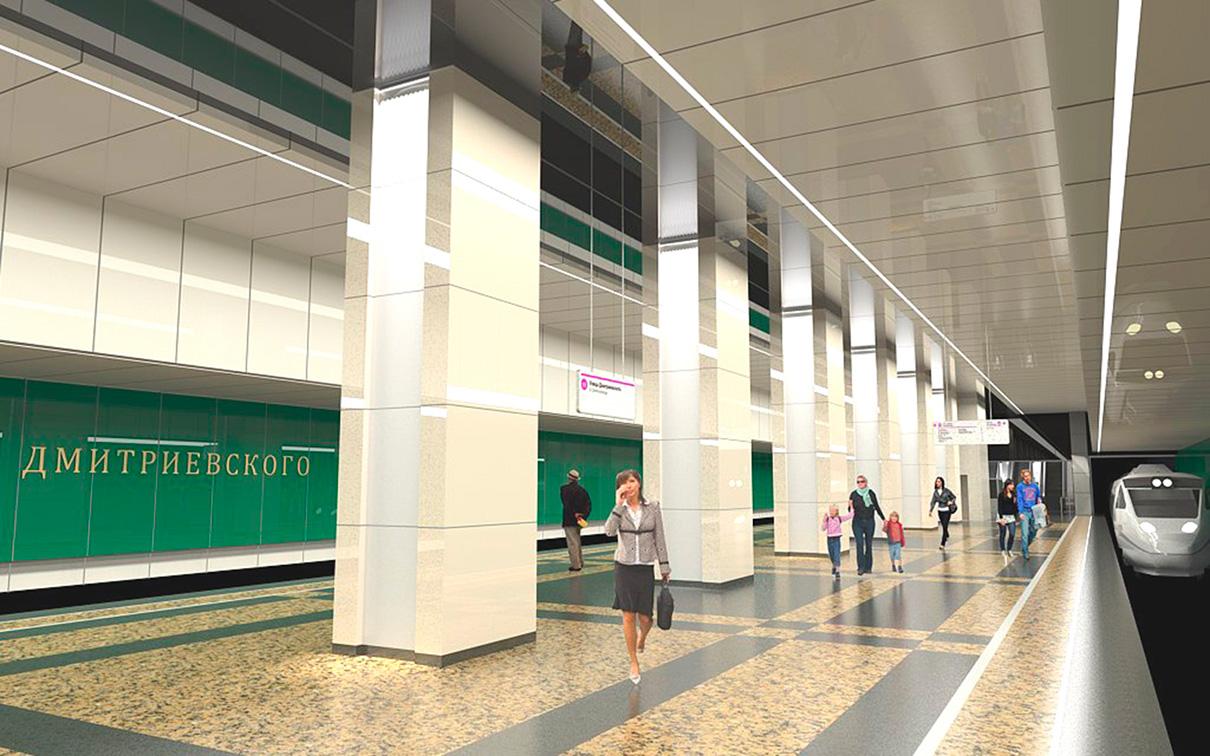 В интерьере станции архитекторы постарались передать образ рощи. Подвесная структура потолка создает игру света, напоминающего преломление солнечных лучей, проходящих сквозь листву деревьев