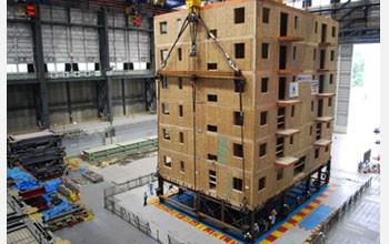 Фото: Ученые проверят на сейсмоустойчивость 6-этажный многоквартирный дом из дерева (Фото: NFS)