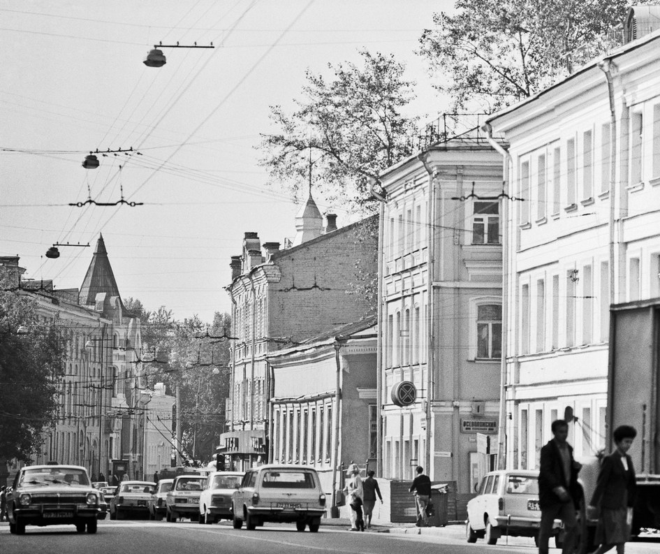 Улица Остоженка. 1986 год