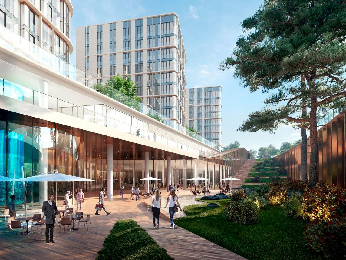 Проект строительства самого большого в Европе океанариума был утвержден в 2006 году. Предполагалось, что он станет частью комплекса с гостиницей, офисами и апартаментами общей площадью 180 тыс. кв. м на улице Братьев Фонченко. Его строительство началось в 2017-м и было заморожено в кризис 2018 года