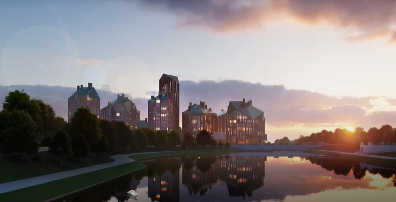 Фото: эскиз презентации проекта застройки исторического центра Калининграда