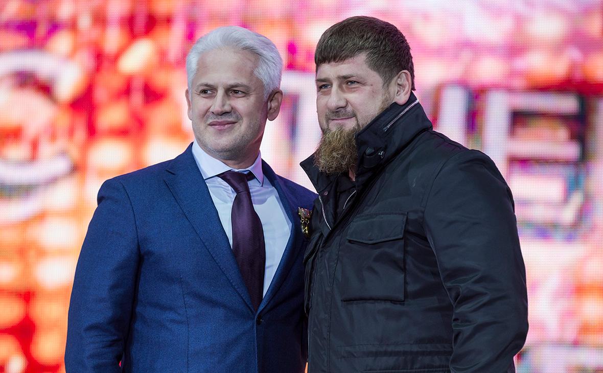 Муслим Хучиев (слева) и Рамзан Кадыров