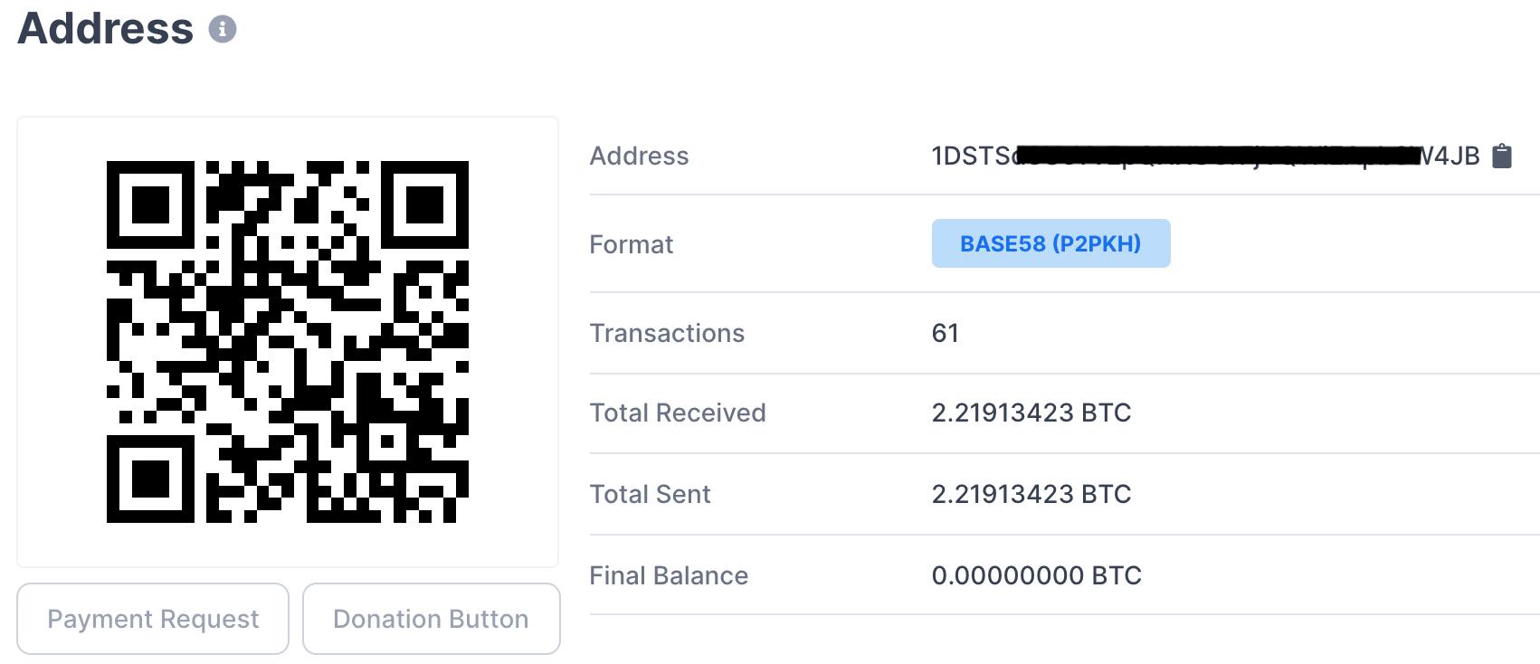 Биткоин-кошелек, на который неизвестные предлагают отправить криптовалюту