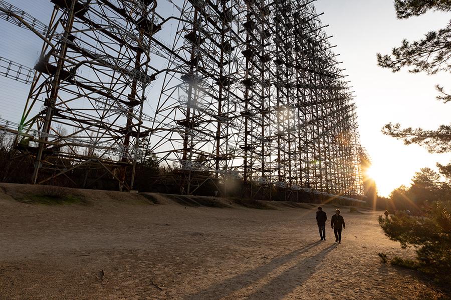 Радиолокационная станция неподалеку от ЧАЭС, ноябрь 2019 года