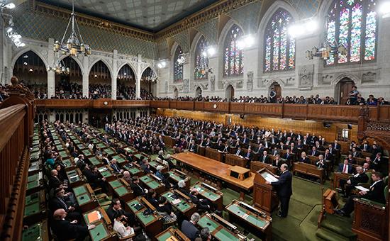Во время заседания парламента Канады, февраль 2014года