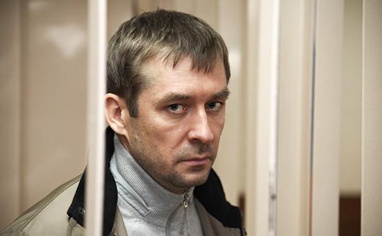 Задержанный полковник МВД Дмитрий Захарченко вПресненском суде.10 сентября 2016 года