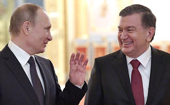 Владимир Путин иШавкат Мирзиёев