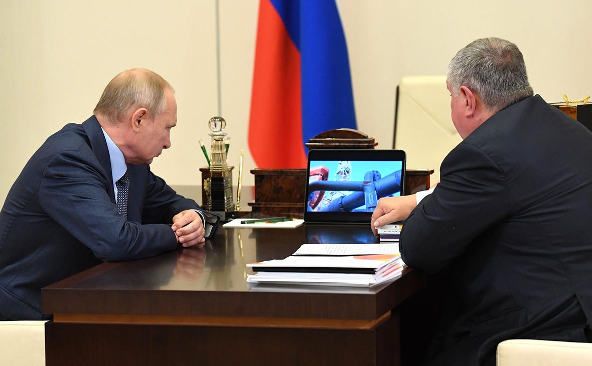 Встреча Владимира Путина с Игорем Сечиным