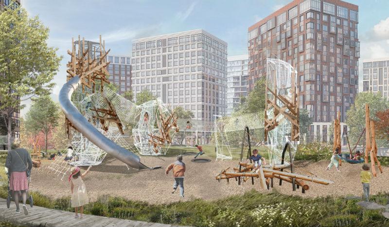 Конкурсный эскизный проект площадок ЖК West Garden от «Бюро Чехарда»