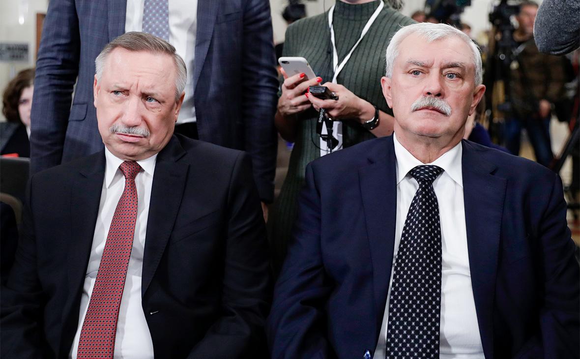 Александр Беглов и Георгий Полтавченко (слева направо)