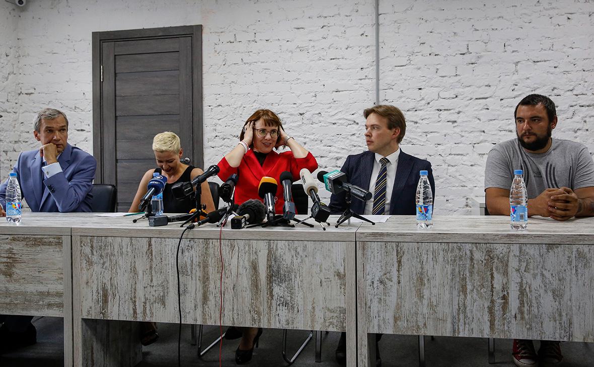 Первое заседание Координационного совета оппозиции Белоруссии в Минске