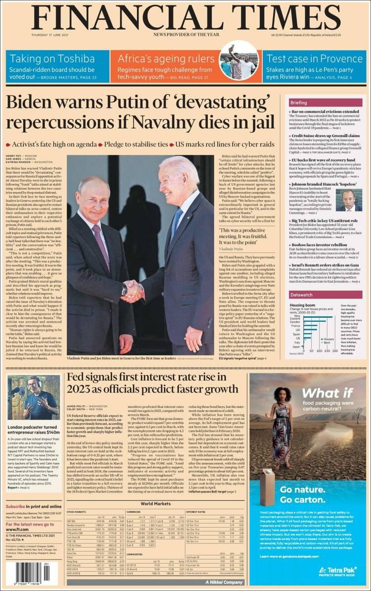 The Financial Times, Великобритания