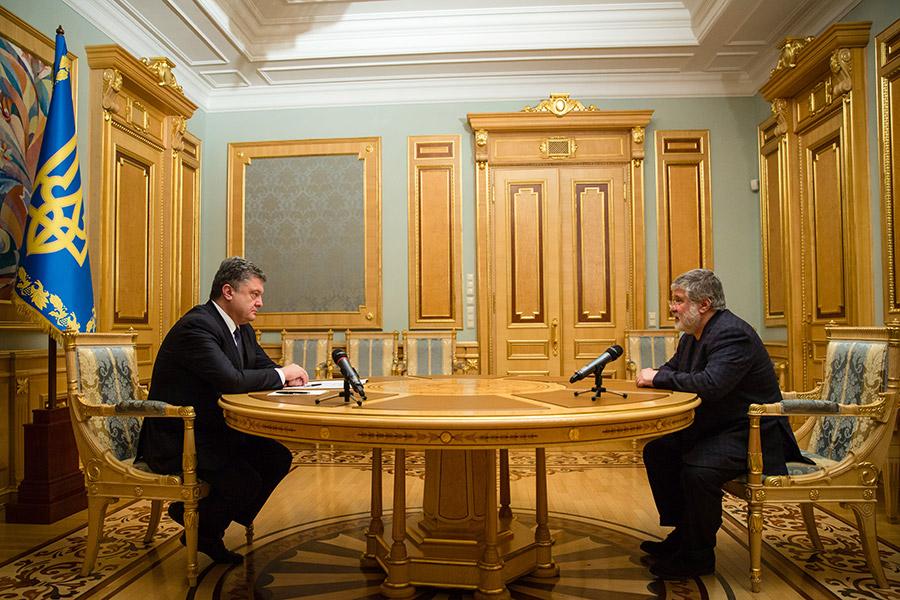 Петр Порошенко и Игорь Коломойский (слева направо)