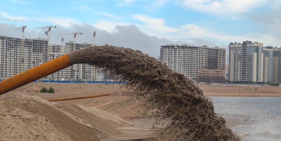 Старт проекта намыва «Группой ЛСР»новых территорий на Васильевском острове