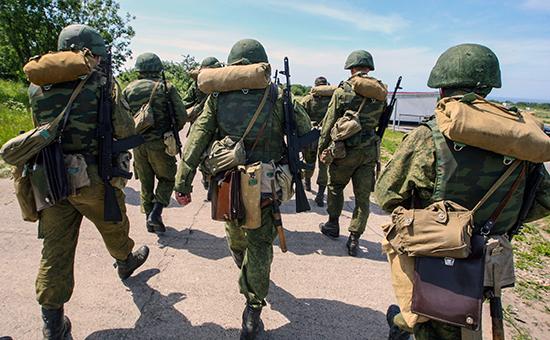 Занятия побоевой подготовке военнослужащих. Архивное фото