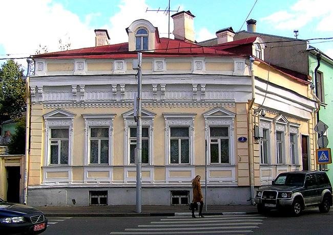 Флигель городской усадьбы на пересечении Староконюшенного и Пречистенского переулков