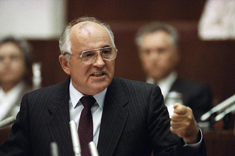 Бывший президент СССР Михаил Горбачев. Август 1991 года