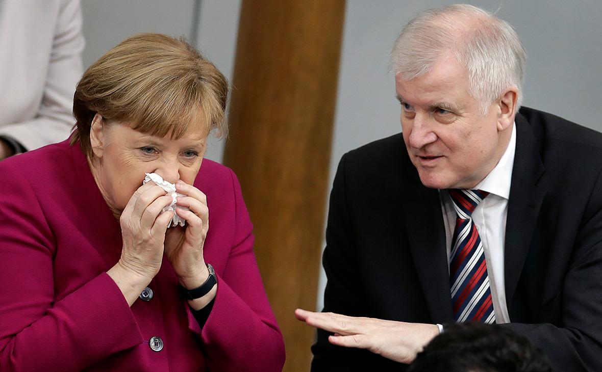 Ангела Меркель иХорст Зеехофер