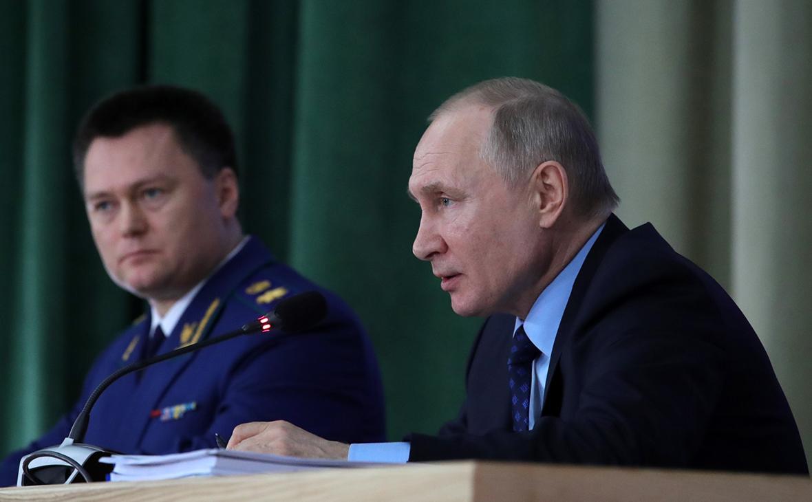 Игорь Краснов и Владимир Путин (слева направо)