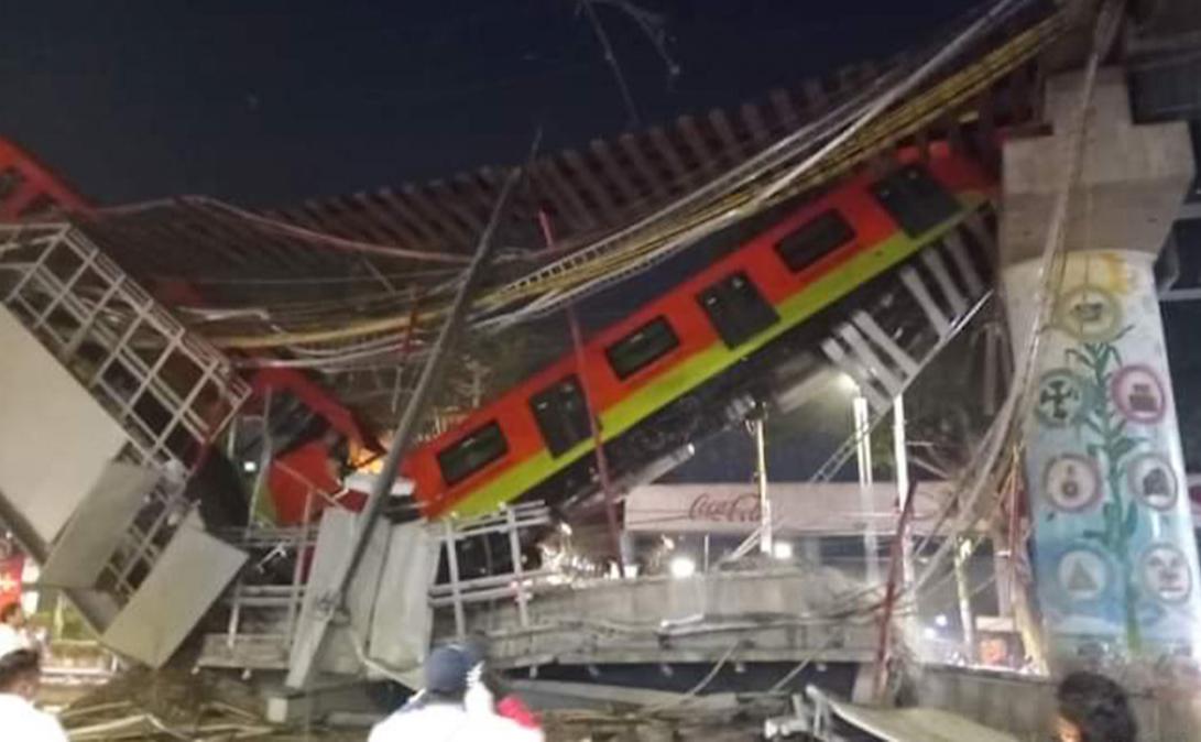 При обрушении метромоста в Мехико погибли 13 человек и пострадали 70