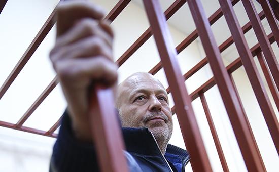 Экс-сенатор от Ненецкого автономного округа Александр Сабадаш во время рассмотрения ходатайства следствия об аресте в Басманном суде
