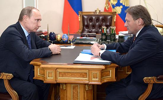 Встреча президента РФ Владимира Путина с уполномоченным по защите прав предпринимателей Борисом Титовым, апрель  2015 года