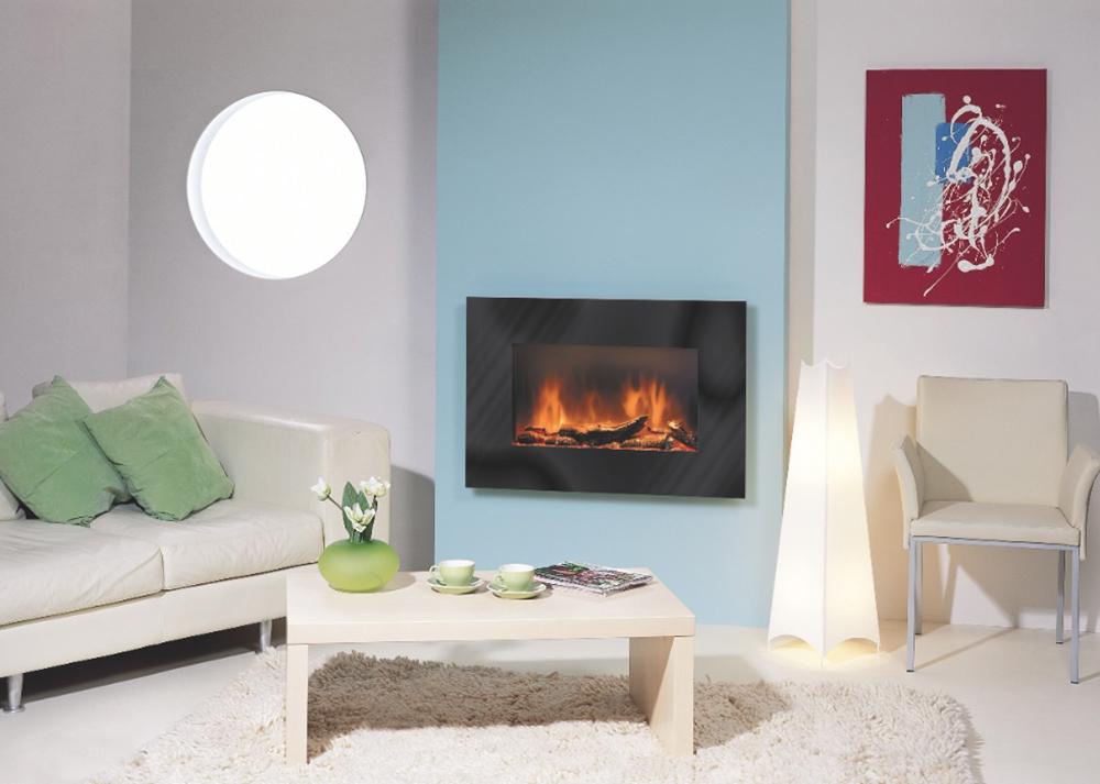 Самым красивым с интерьерной точки зрения обогревателем будет электрокамин. Помимо приятного свечения он выделяет 2-4 кВт тепла