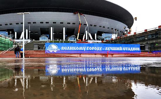 Вид настадион «Зенит Арена»