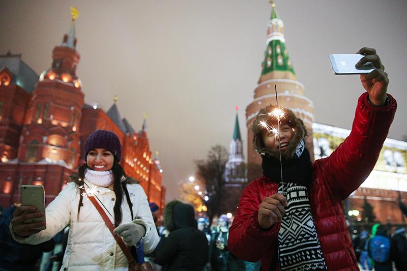 В россии последними встречают новый год жители