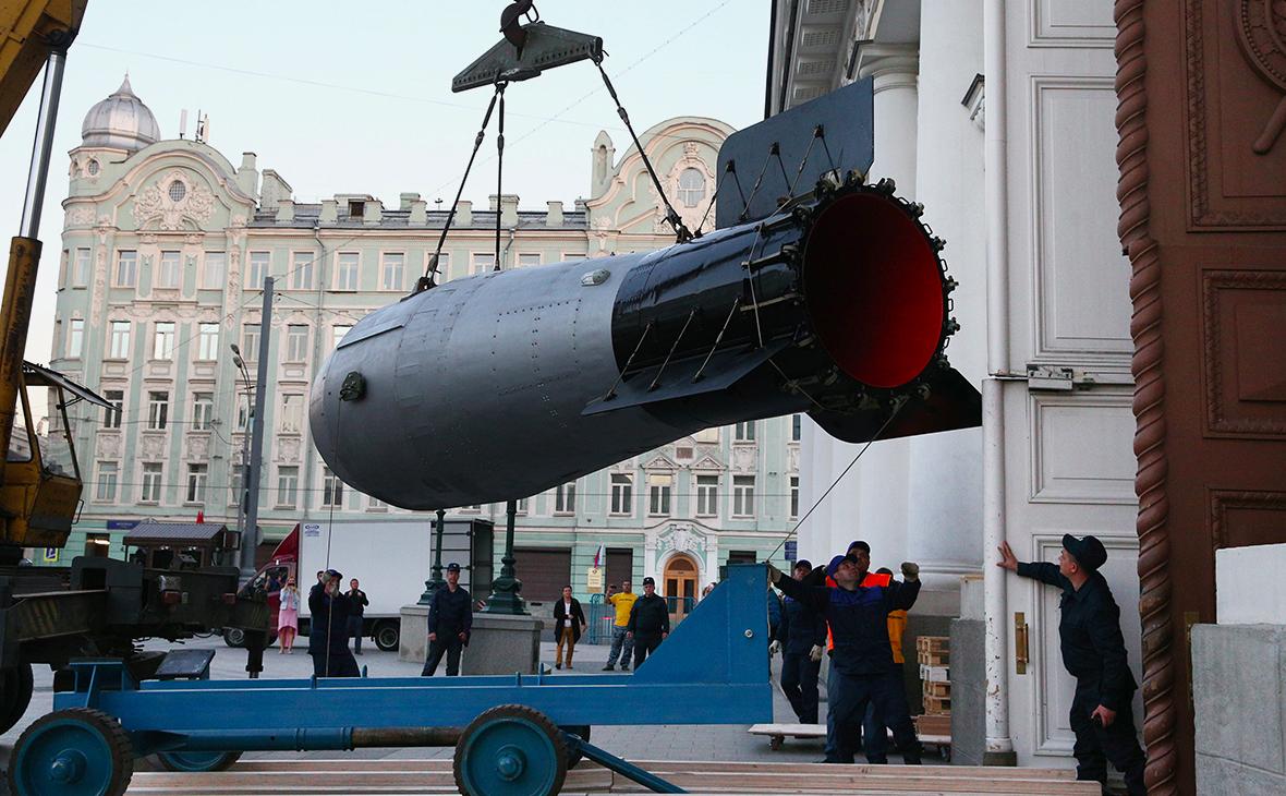 Макет термоядерной бомбы на культурно-исторической выставке в Москве
