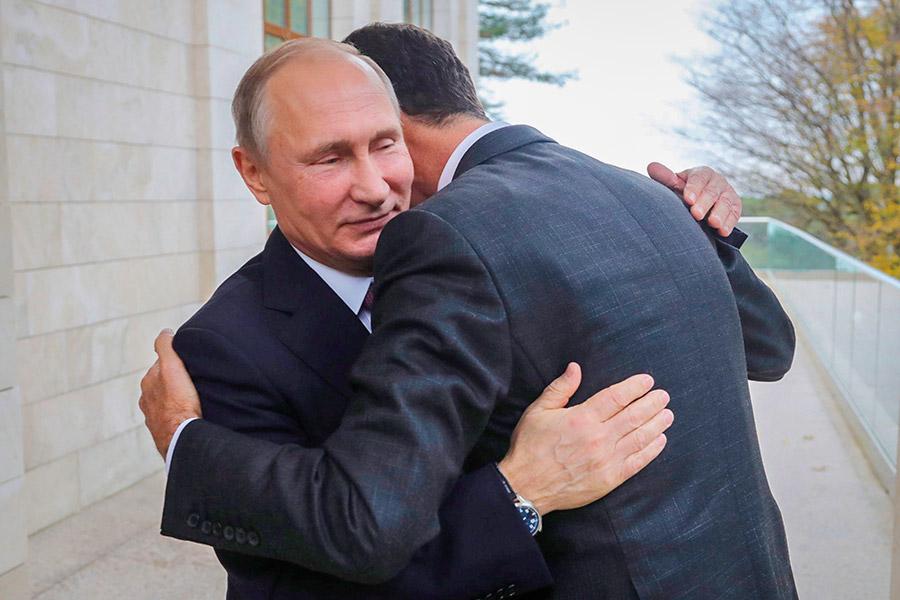 Владимир Путин и БашарАсад