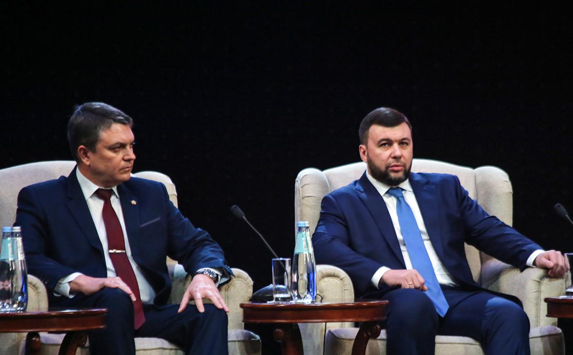 Леонид Пасечник и Денис Пушилин