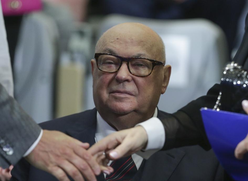 Владимир Ресин во время совместного заседания Высшего и Генерального Совета «Единой России». 2016 год