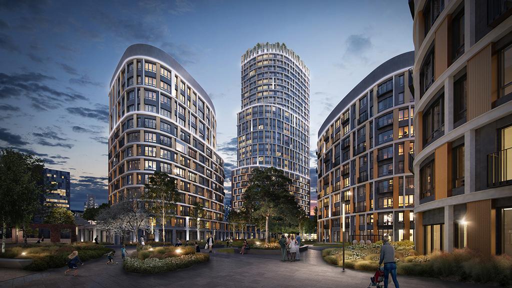 Многоэтажки будут неправильной вытянутой формы, чтобы открывать панорамные виды на город и максимально эффективно использовать естественное освещение