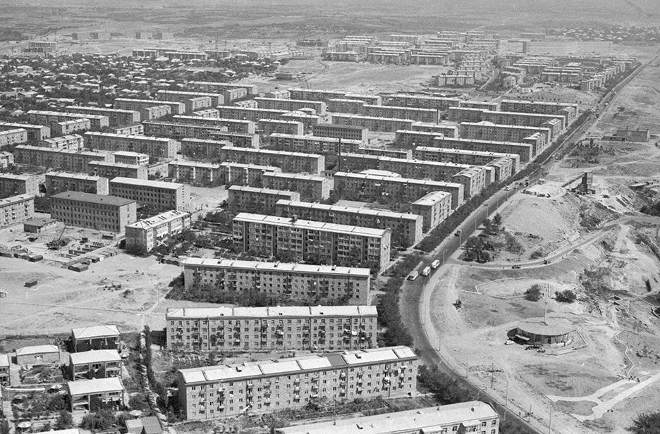 Общий вид нажилой массив Ачапняк (Ереванские Черемушки). 1970 год