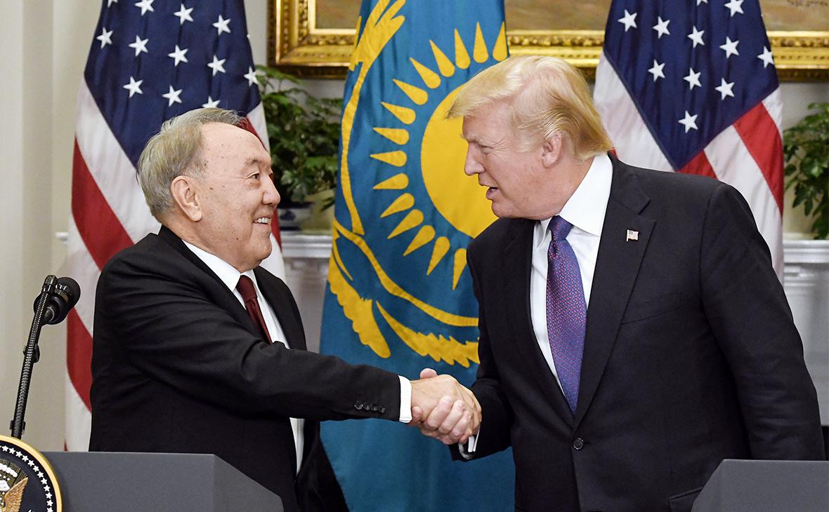 Нурсултан Назарбаев и Дональд Трамп (слева направо)
