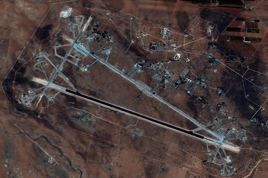 Авиабаза Шайрат впровинции Хомс. 7 октября 2016 года
