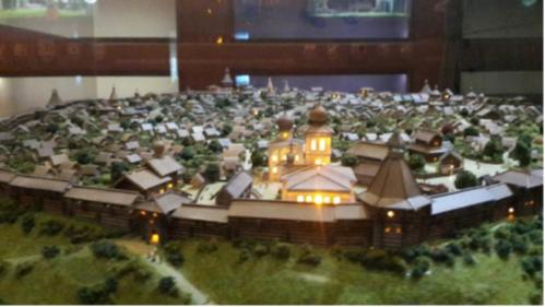 Макет «префаб-града» Свияжск