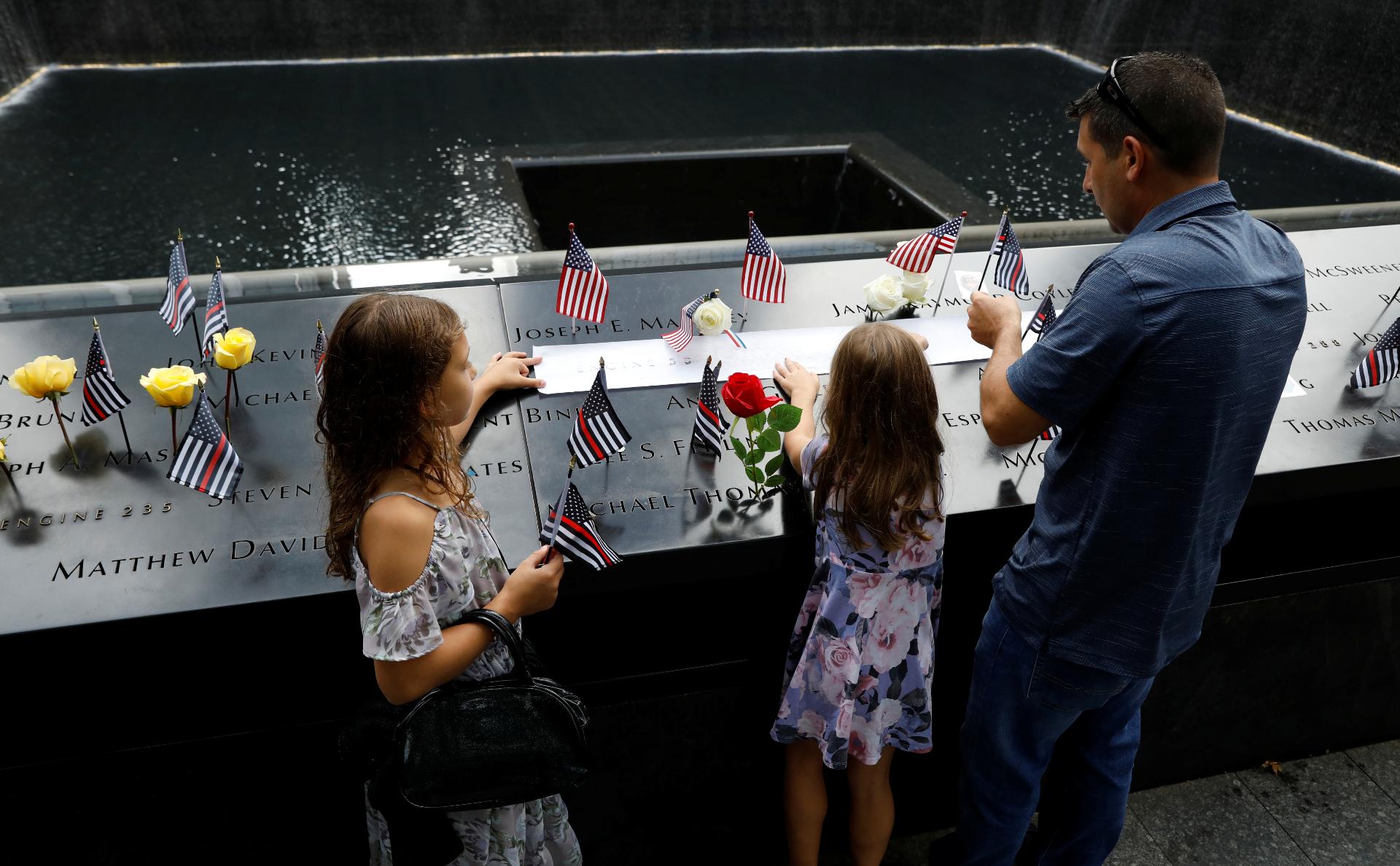 Мемориал жертвам терактов 9/11 в Нью-Йорке