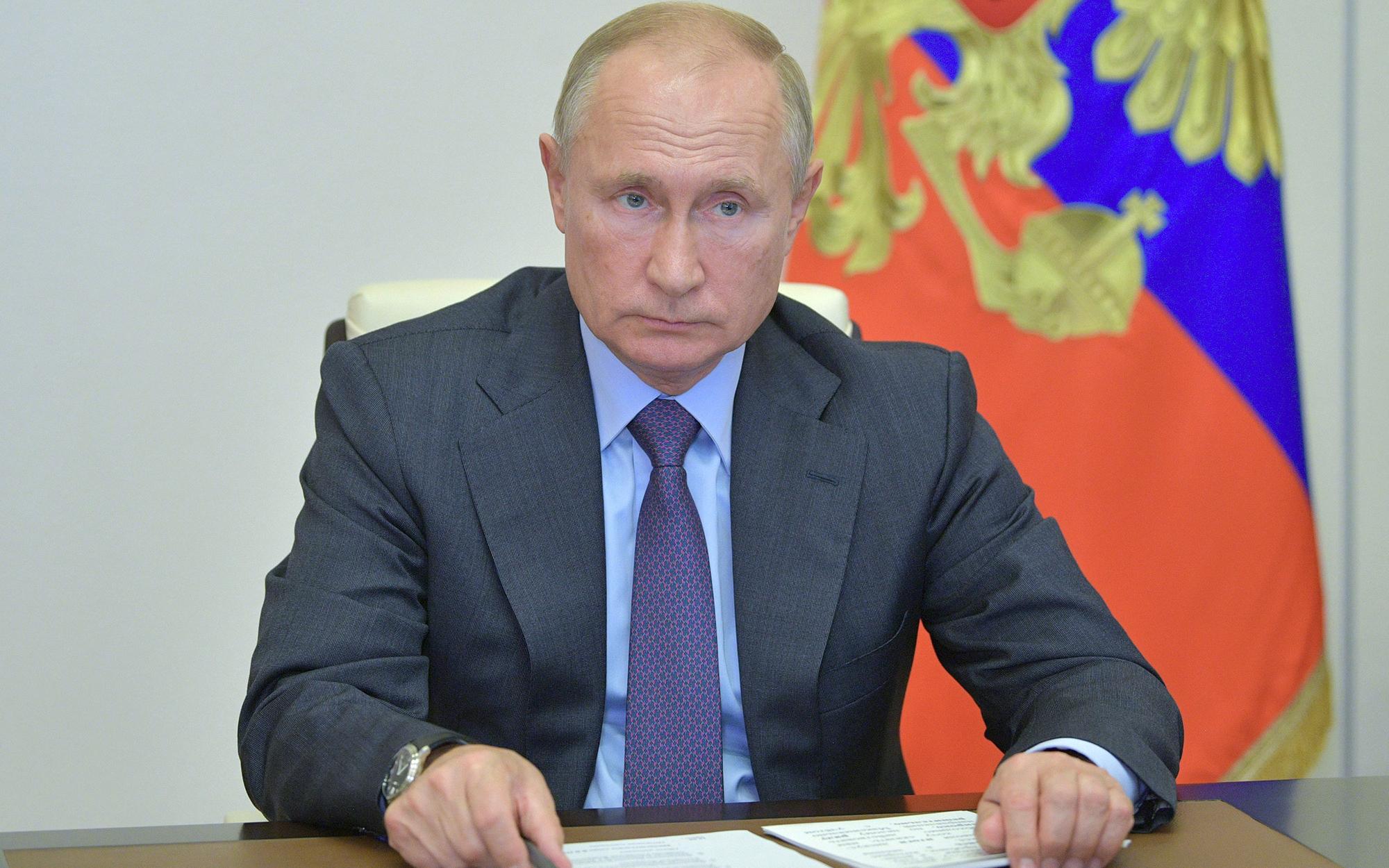 Президент России Владимир Путин в Ново-Огарево проводит в режиме видеоконференции совещание по вопросам развития и декриминализации лесного комплекса