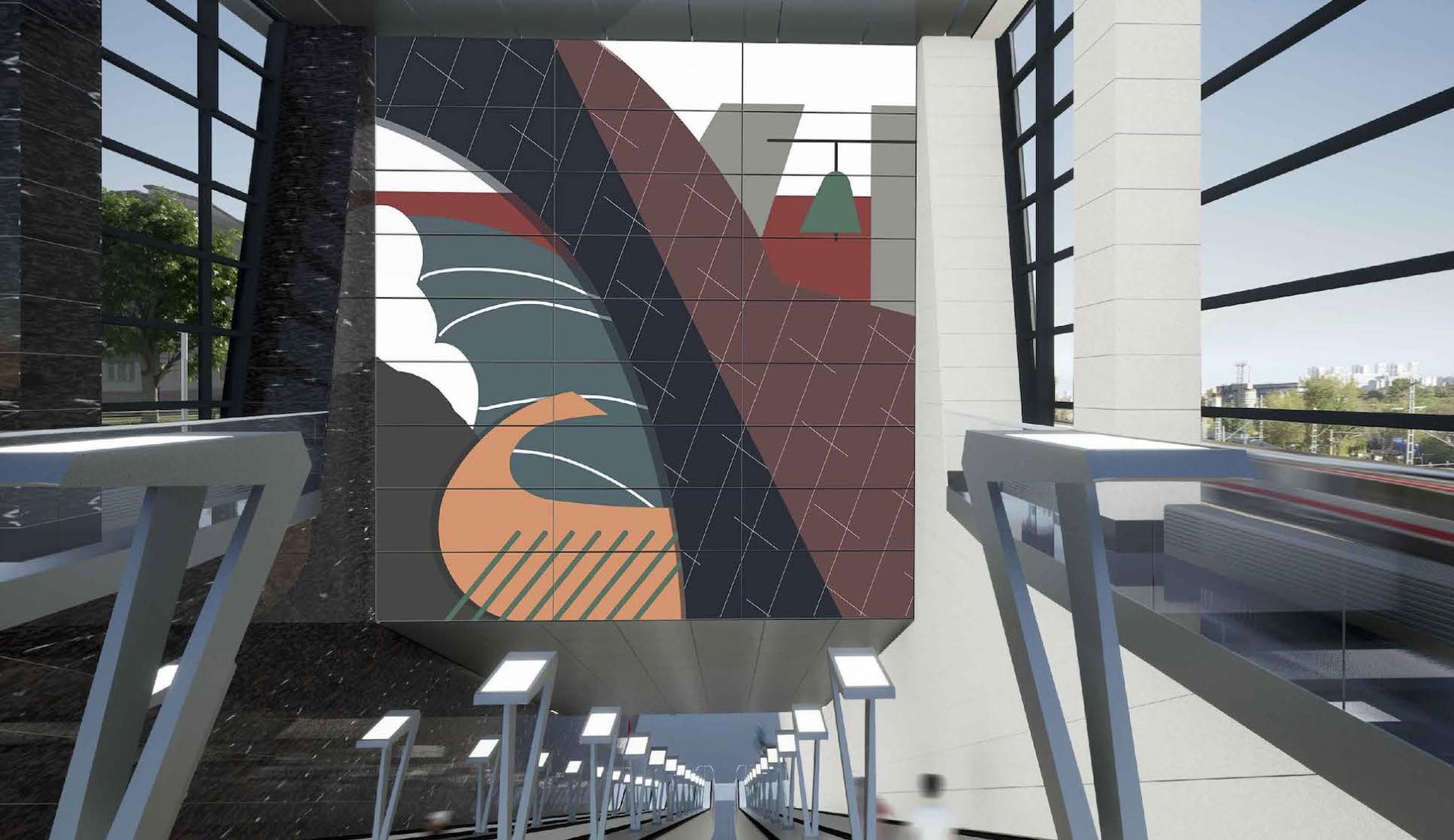 Над эскалаторами разместят две художественные композиции «Крым — связь времен от античности до наших дней»