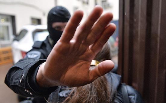 Во время проведения обыска вофисе общественной организации «Открытая Россия». Апрель 2015 года