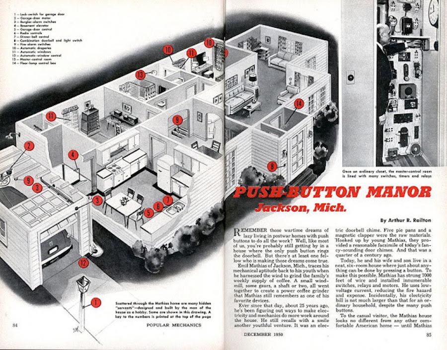 План изобретения Матиаса в журнале Popular Mechanics за декабрь 1950 года