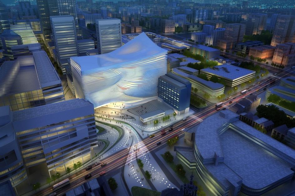 В 2010 году Нидерланды проводили архитектурный конкурс на создание Центра танцев и музыки в Гааге. Площадь центра по проекту должна была составить почти 46,5 тыс. кв. м. Бюро Захи Хадид проиграло этот конкурс голландской студии Neutelings Riedijk Architects